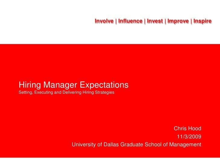 Chris Hood - Setting Expectations