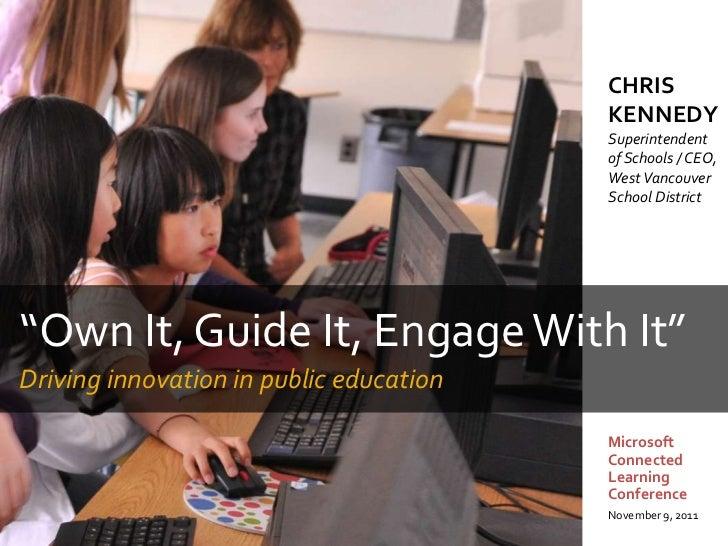 Microsoft Education Keynote - Washington DC - November 9, 2011