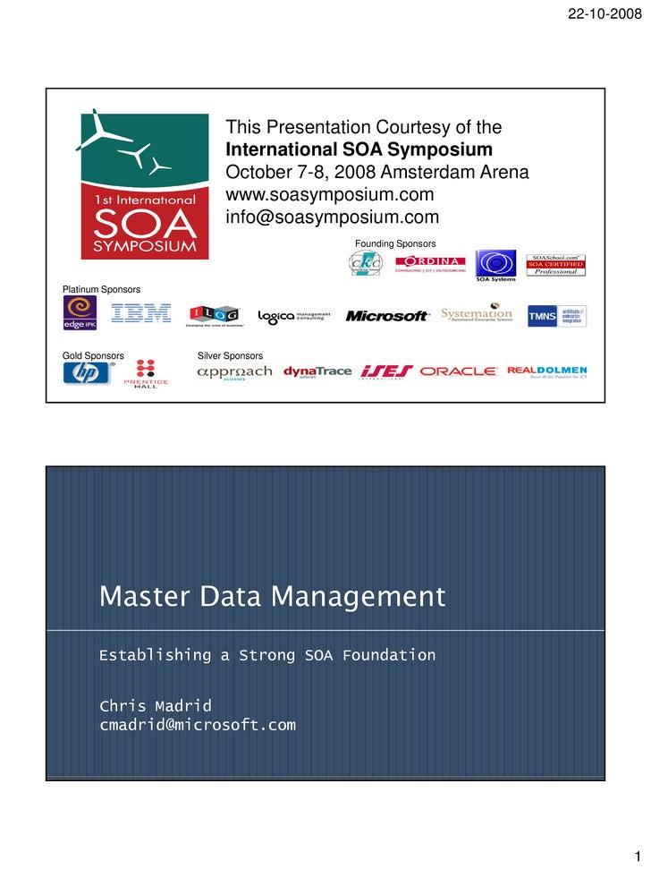 Chris  Madrid    Master Data Management