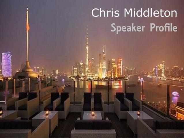 Chris Middleton   Speaker Profile