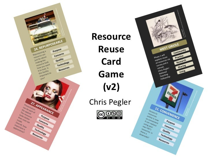 Resource Reuse  Card Game  (v2)Chris Pegler