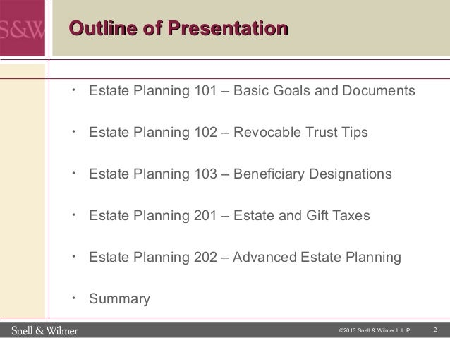 Business estate planning