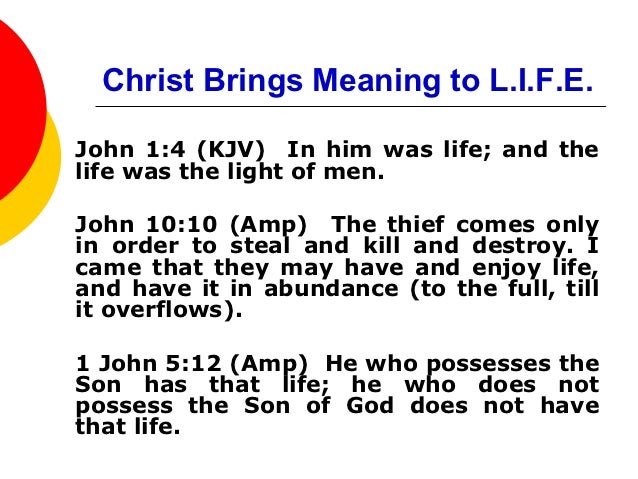 Christ Brings Meaning To Life