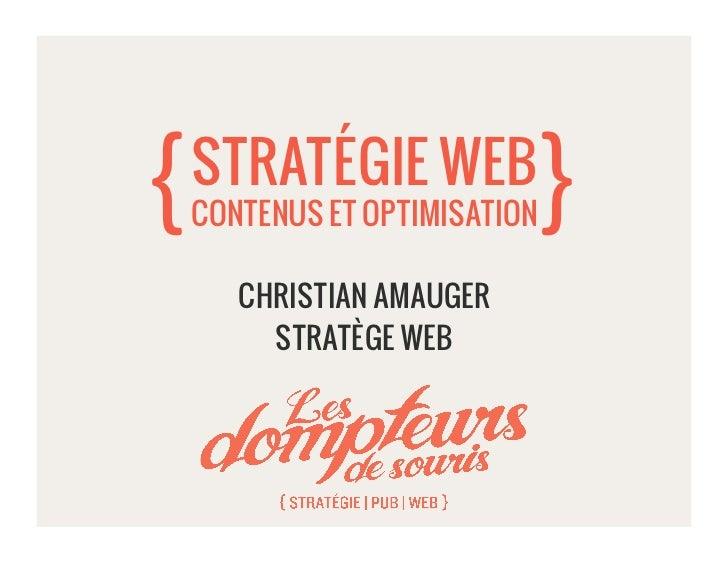 Christian Amauger - Contenus Web, stratégie et optimisation