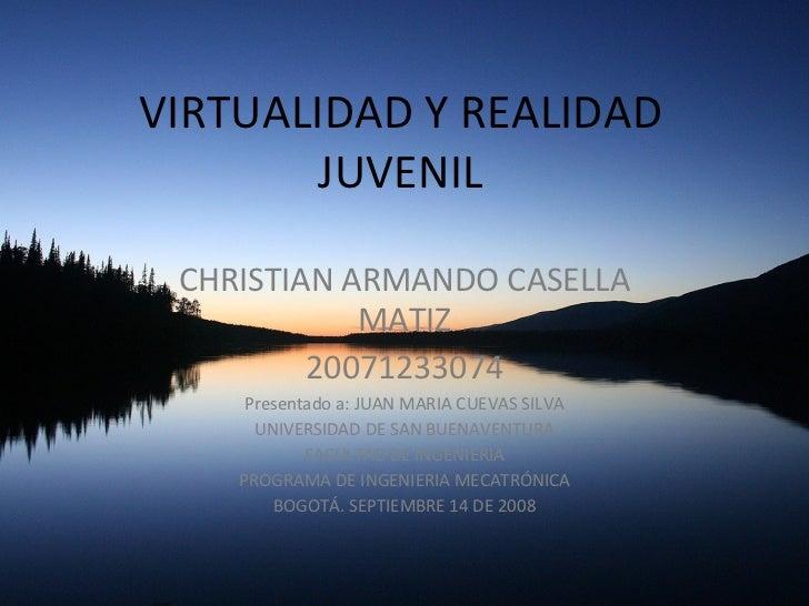 VIRTUALIDAD Y REALIDAD JUVENIL