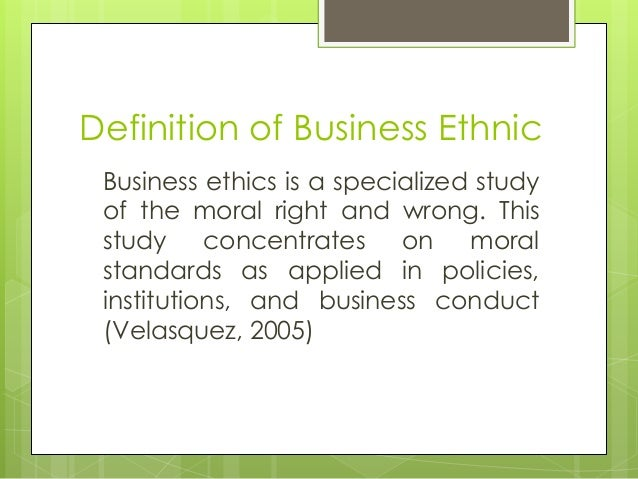 business ethics definition