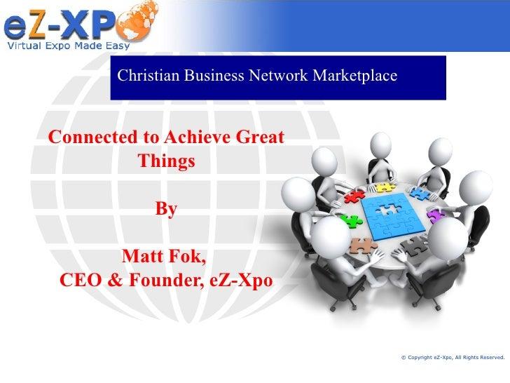 Christian Business Network Marketplace (CBNM) Presentation