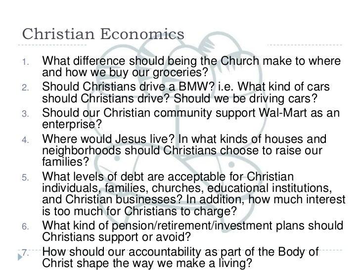 Christian economics chapel   wednesday