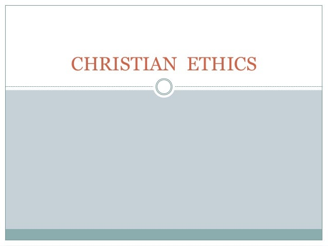 Christian  ethics BPC resource