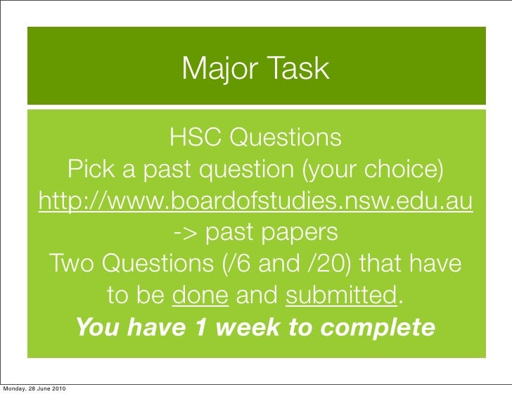 hsc essays Hey everyone :) this was my essay for the hsc legal studies option topic: family law again, it was a band 6 hope it helps, tash family law is the body of law pertaining to marriage and matrimonial issues.