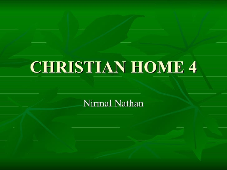Christian home marital relations  4 of 4