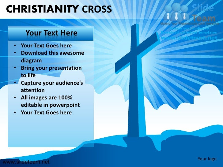 Christianity cross jesus christ powerpoint presentation templates.