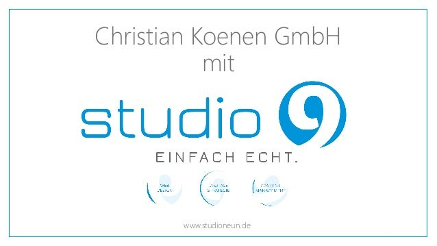 Christian Koenen GmbH mit www.studioneun.de