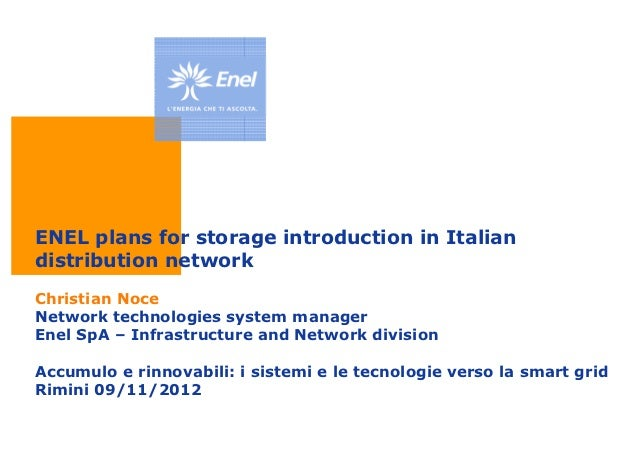 ENEL plans for storage introduction in Italian distribution network