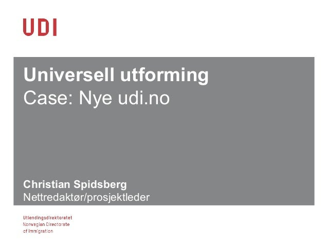 Christian og Derek: Web Accessibility (Webdagene 2013)