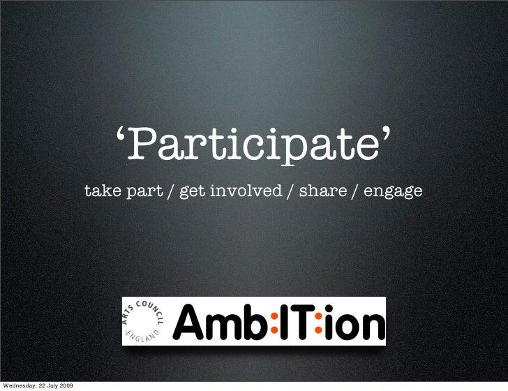 Christian Payne Participate Masterclass Ambition