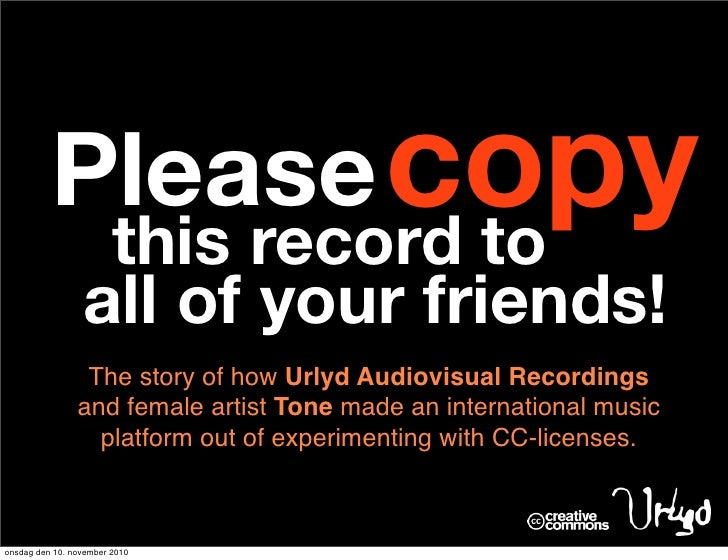 Please Copy This Record to All of Your Friends (story of Tone/Urlyd's international CC adventure))