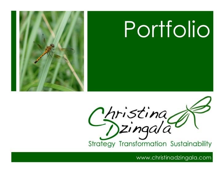 Christina Dzingala Portfolio 091212