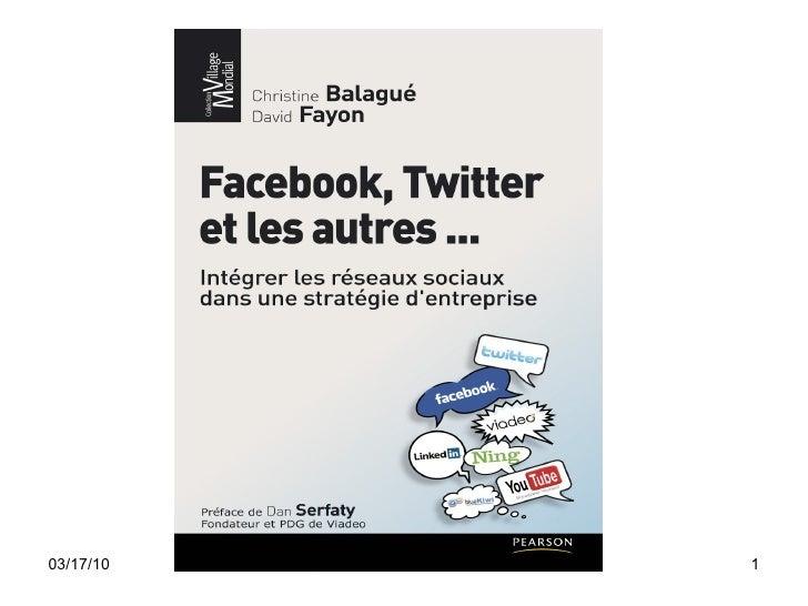 """PARIS2.0 = Intervention de Christine Ballagué, auteur de """"Facebook, Twitter et les autres"""""""