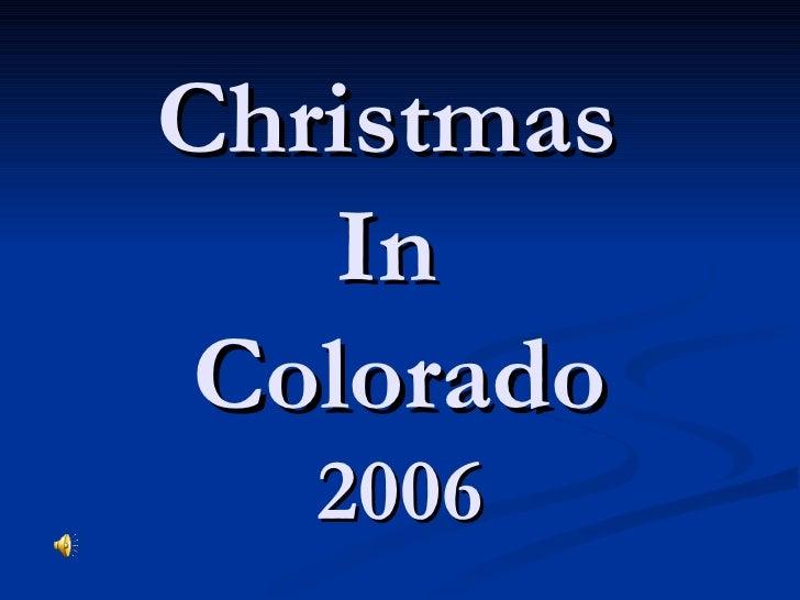 Christmas In Colorado!