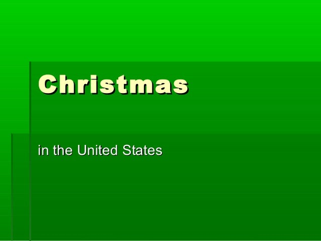 Christmasin the United States