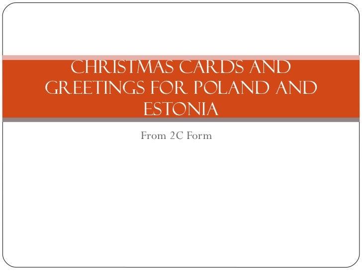 Christmas cards for poland and estonia