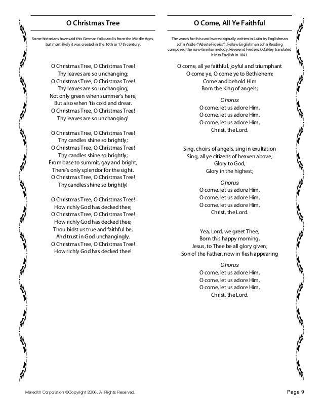 O Christmas Tree O Christmas Tree Lyrics Photo Album - Home Design ...