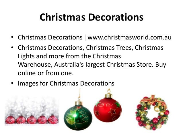Christmas Decorations • Christmas Decorations |www.christmasworld.com.au • Christmas Decorations, Christmas Trees, Christm...