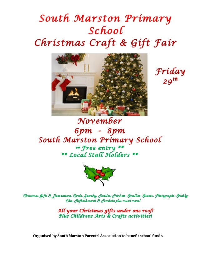 South Marston Primary School Christmas Craft & Gift Fair Friday 29th November 6pm - 8pm South Marston Primary School ** Fr...