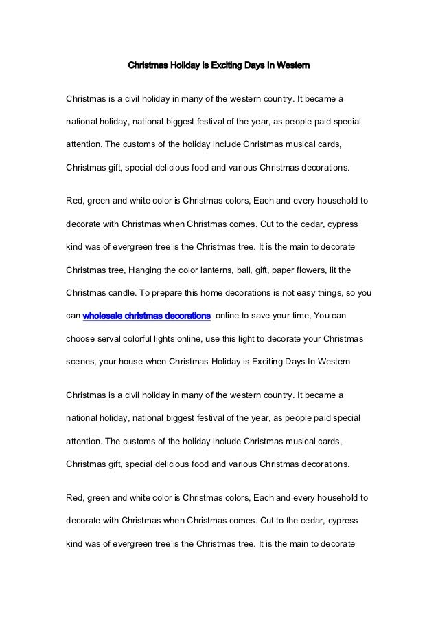Christmas Holiday is Exciting Days In WesternChristmas is a civil holiday in many of the western country. It became anatio...