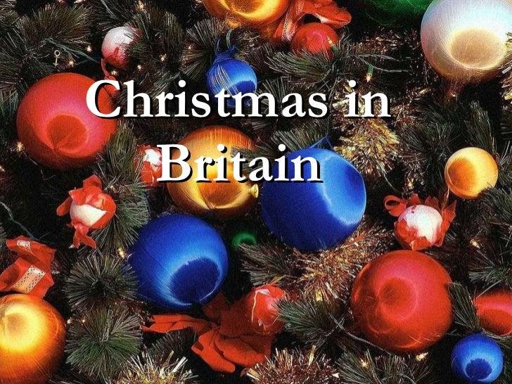 Christmas in britain презентация