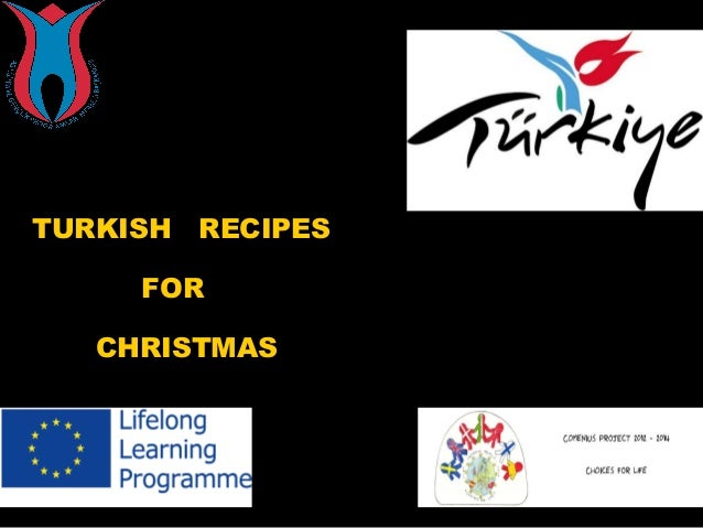 TURKISH  RECIPES  FOR CHRISTMAS