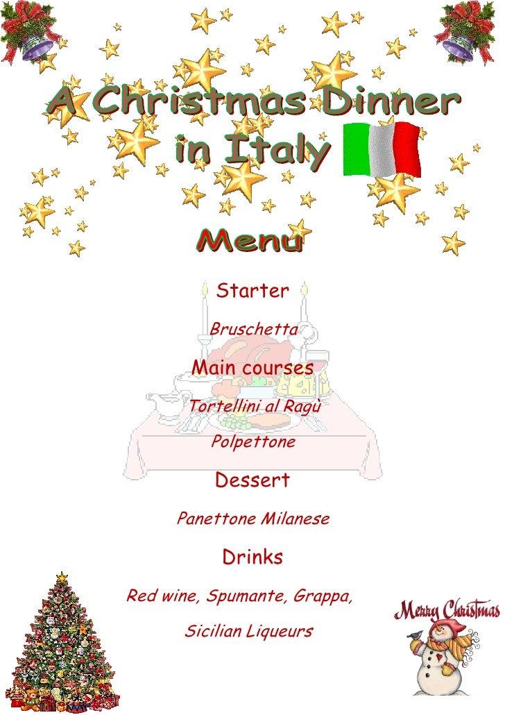Christmas italian menu and traditions