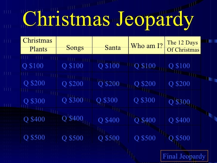Christmas Jeopardy 2