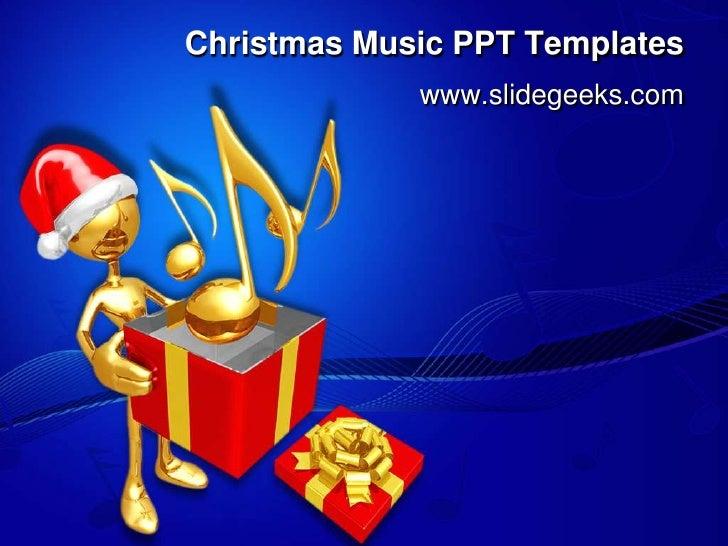 Christmas music ppt templates