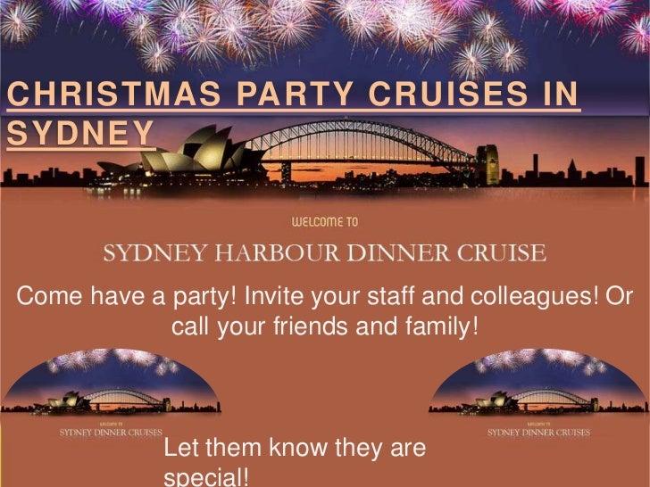 Christmas party celebration sydney harbour