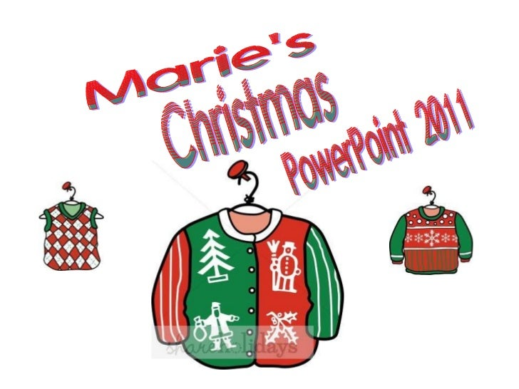 Marie's Christmas PowerPoint 2011