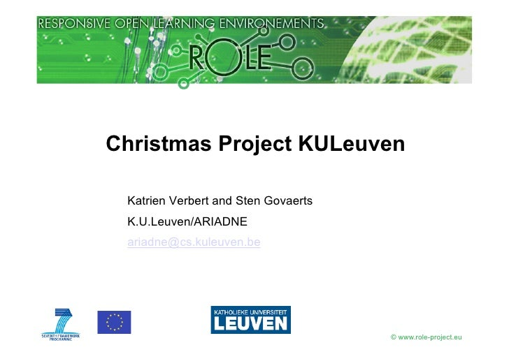 ROLE Xmas Project KULeuven