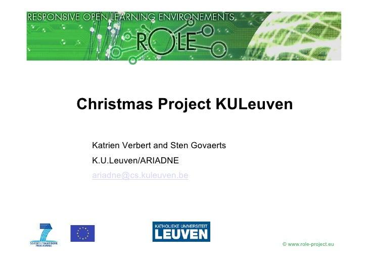 ROLE Xmas Project KULeuven
