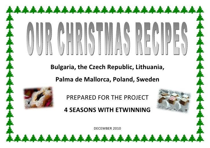 Our Christmas recipes