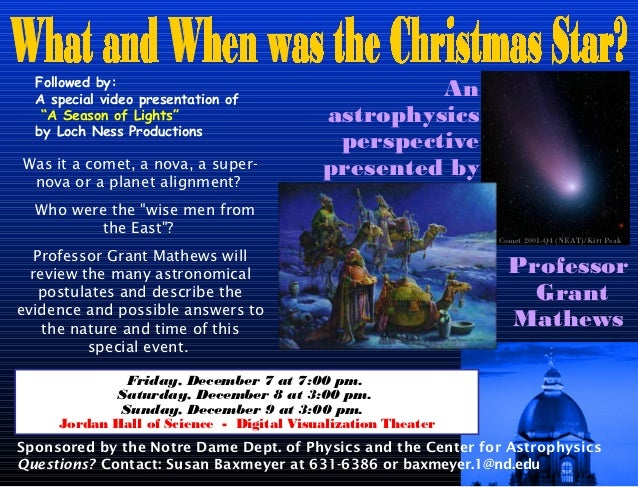 """Followed by:  A special video presentation of                                                   An   """"A Season of Lights"""" ..."""