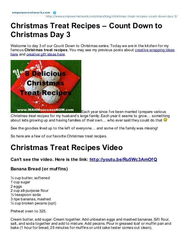 empowernet work.com                 http://www.empowernetwork.com/elian/blog/christmas-treat-recipes-count-down-day-3/Chri...