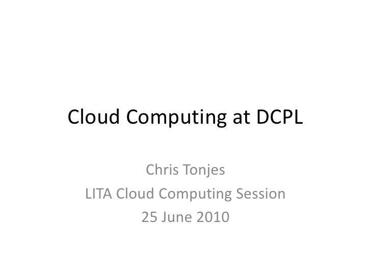 Chris tonjes cloud computing