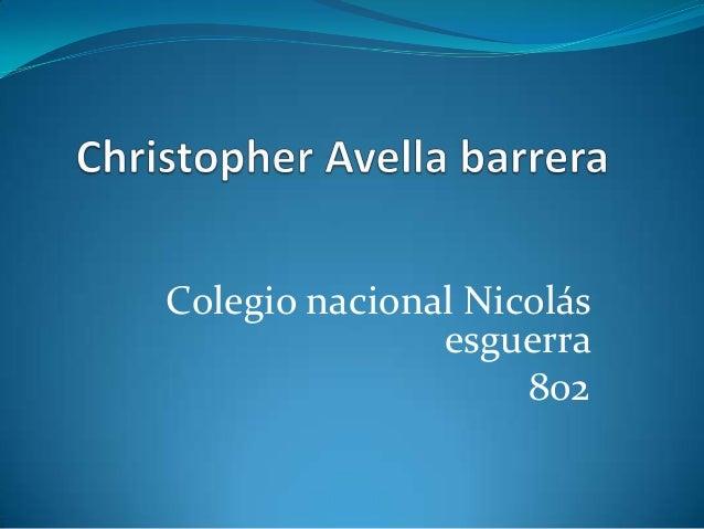 Colegio nacional Nicolásesguerra802