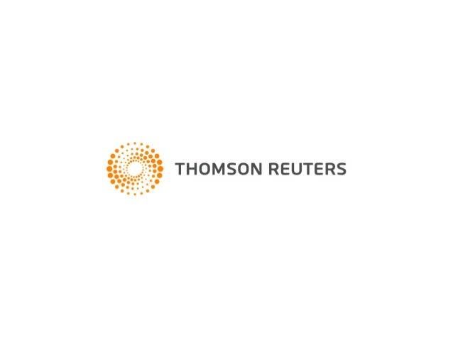 Haciendo posible la información espacial de Tierra y Propiedad: Un pequeño paso para los Gobiernos, Un gran salto para la Sociedad Christopher Barlow, Director de Marketing y Cuentas Estratégicas, Thomson Reuters - EE.UU.