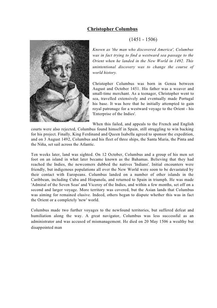 Christopher Columbus                                                          (1451 - 1506)                               ...