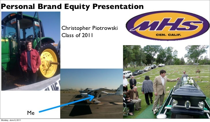 Personal Brand Equity Presentation                            Christopher Piotrowski                            Class of 2...