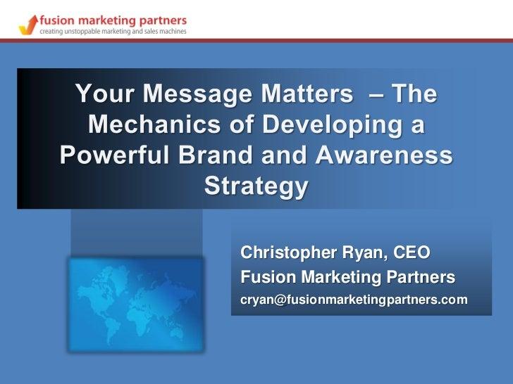 Christopher Ryan - Developing a Powerful Brand