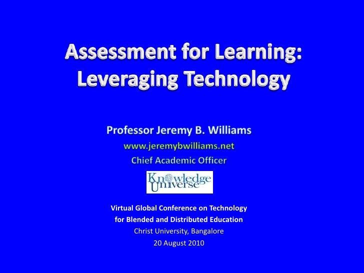 Assessment for Learning: Leveraging Technology