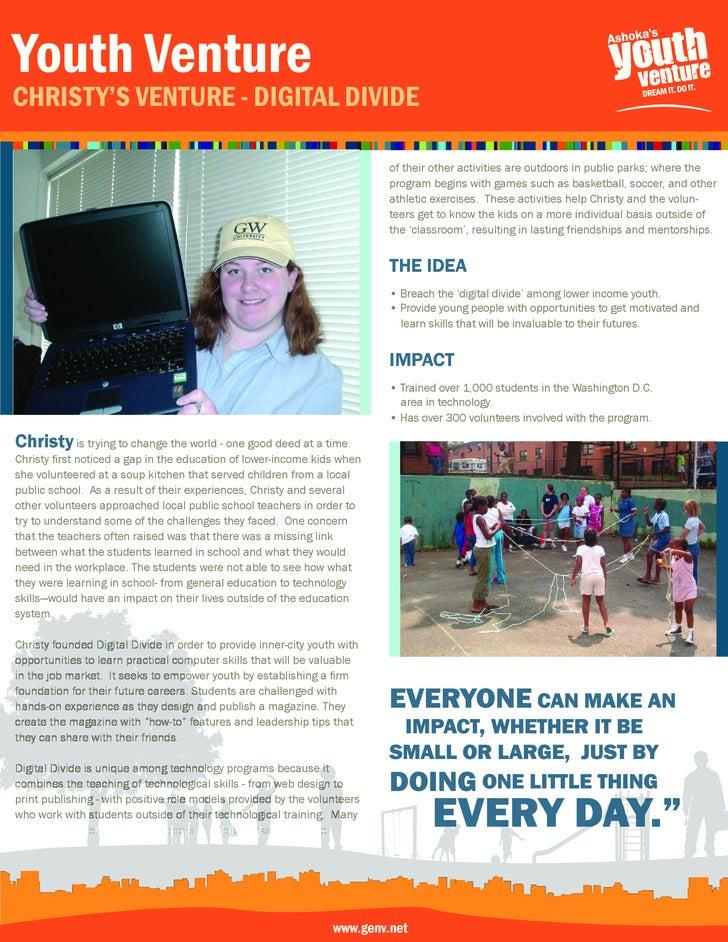 youth Venture Christy's Venture - Digital DiViDe                                                                          ...